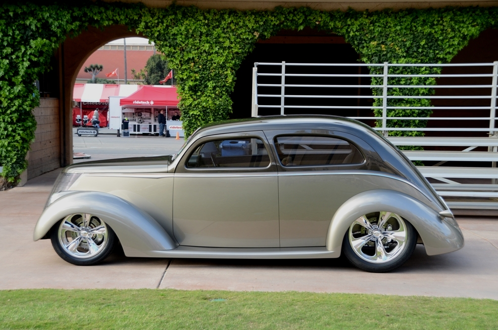 """Art Director And Hot Rodder """"LAID BACK"""" 37 FORD WINS ..."""