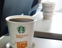 Alaska Airlines and We Proudly Brew Starbucks Coffee CoBranded Cup
