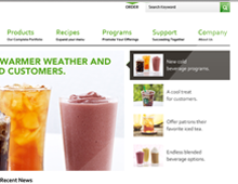 Starbucks Foodservice Website