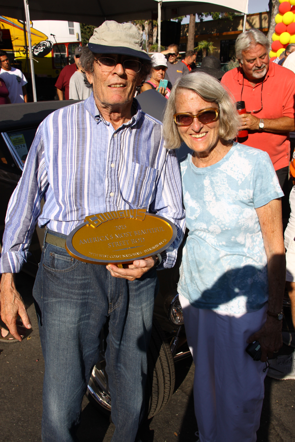 Al and Erma Nagele accepting the Goodguy's 2015 America's Most Beautiful Street Rod Award