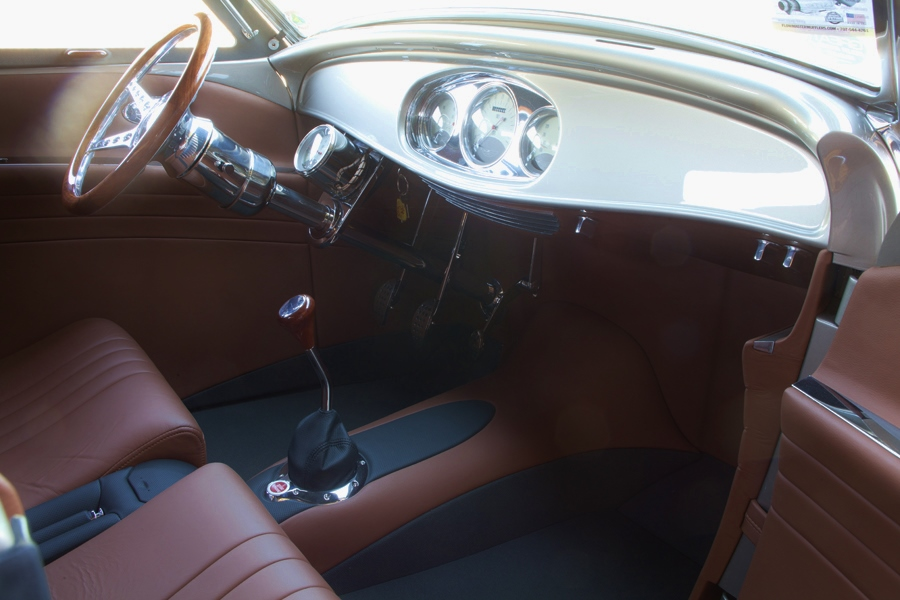 Interior of Al Nagele's 1932 Ford Roadster winner of the Goodguy's 2015 America's Most Beautiful Street Rod presented by Flowmaster Mufflers
